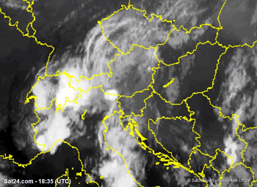 Satellite Image Alps